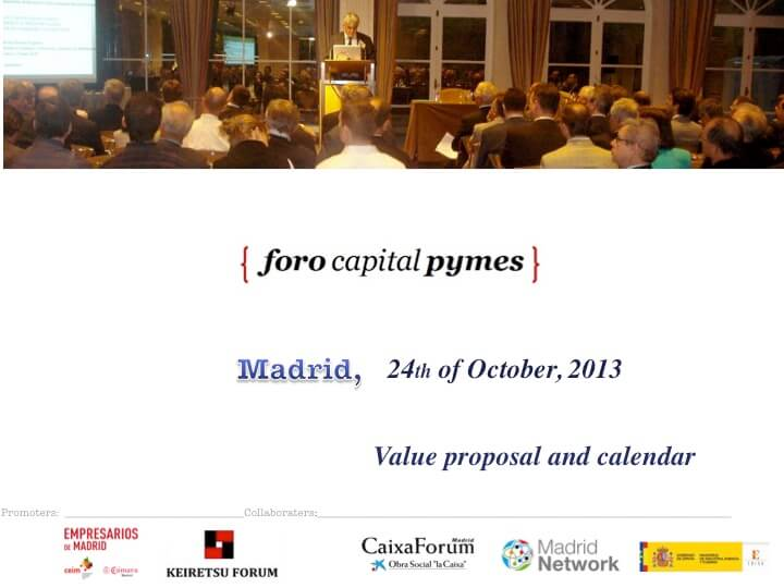 V Foro capital pymes madrid
